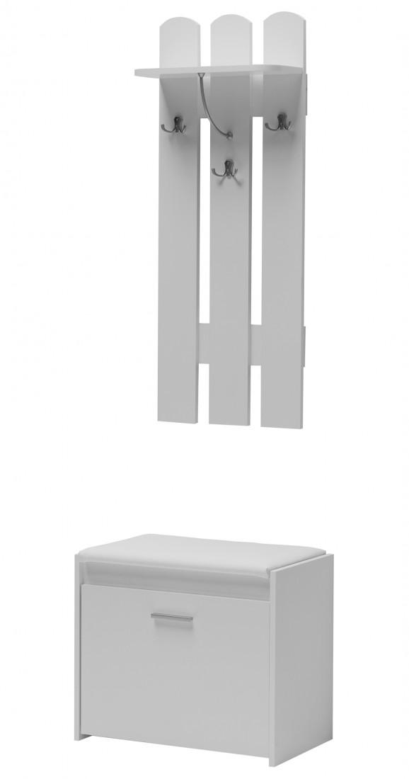 Biała Garderoba Przedpokój 60cm Biały Mat Git 7 Ab Mm